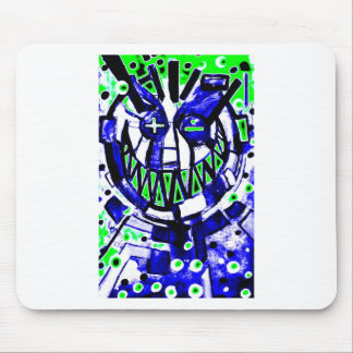 neon smiley face v2 mouse pad