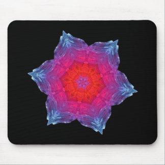 Neon Snowflake Mouse Mat
