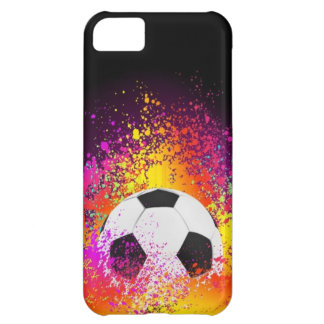 Neon Soccer Ball with Black Background iPhone 5C Case