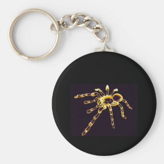 Neon Spider Key Ring