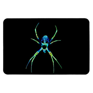 Neon Spider Rectangle Magnet