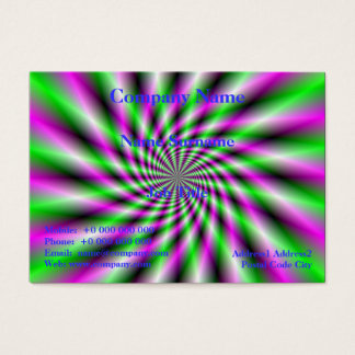 Neon Spinning Wheel Business Card