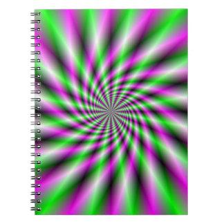 Neon Spinning Wheel Notebook