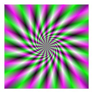 Neon Spinning Wheel Photographic Print