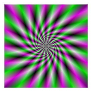 Neon Spinning Wheel Poster
