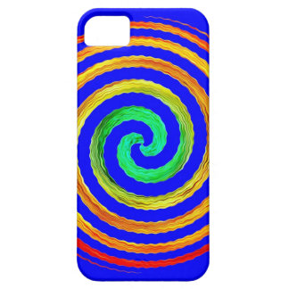 Neon Spiral Blue Barely There iPhone 5 Case
