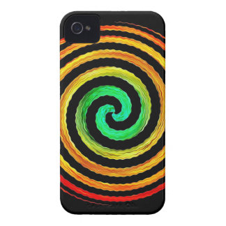 Neon Spiral iPhone 4 Cover