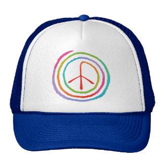 Neon Spiral Peace Symbol II Cap