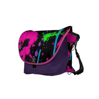 Neon Splash Rickshaw Messenger Bag