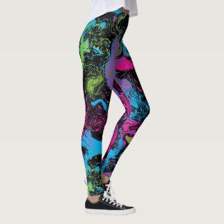 Neon Splat Swirl Leggings