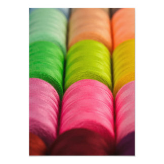 Neon Spools of Thread 13 Cm X 18 Cm Invitation Card