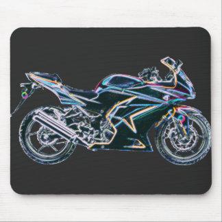 Neon Sport Bike Motorcycle Mousepad
