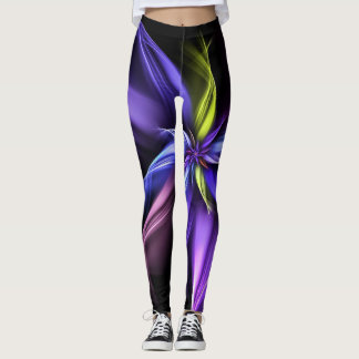 Neon Star Leggings