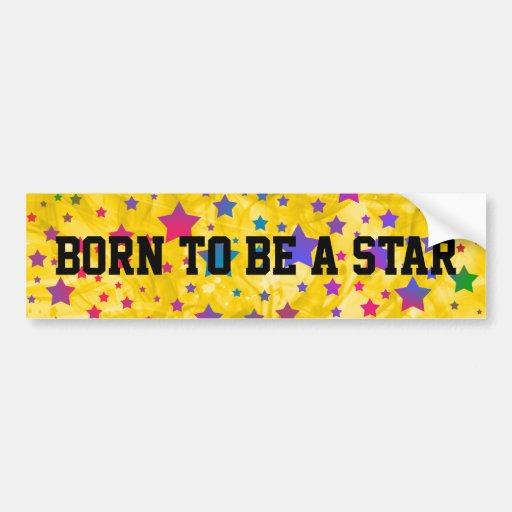 Neon Stars Bumper Sticker