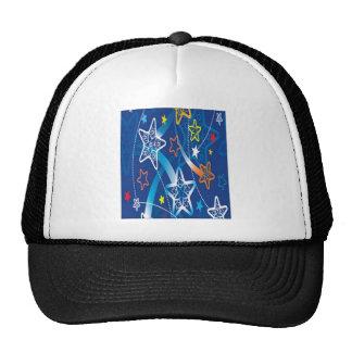 Neon Stars design Mesh Hats