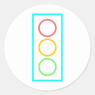 Neon Stoplight Round Sticker