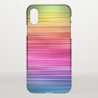 Neon Striped Pattern iPhone X Case