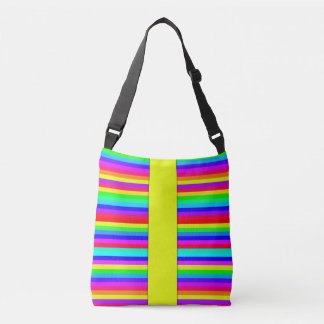 Neon Stripes Of Funky Color Crossbody Bag