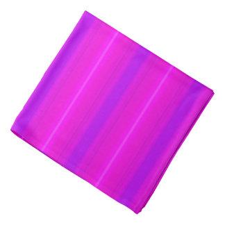 Neon stripes - pink, fuchsia and violet bandana