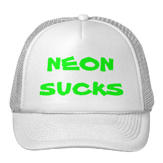 neon sucks mesh hat