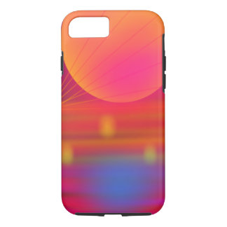 Neon Summer Hazey Sun iPhone 7 tough case