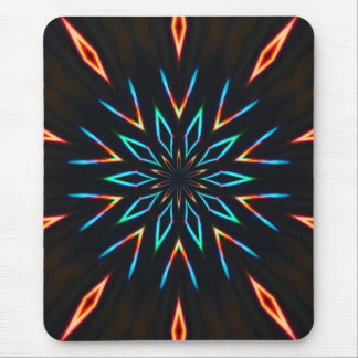 Neon Sun Mouse Pad