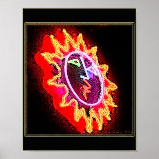 Neon Sun Poster