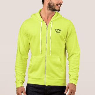 NEON SUPER GUY ATHLETIC HOODIE = EXCEPTIONAL