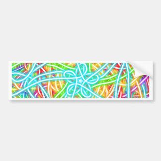 Neon Swirl Bumper Sticker