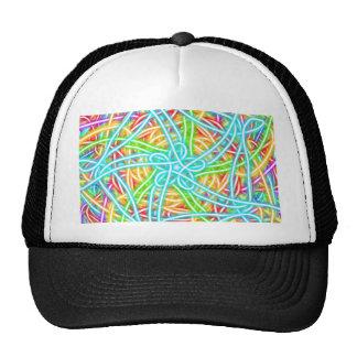Neon Swirl Hats
