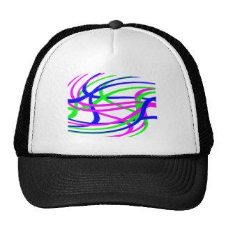 Neon Swirled Stripes #2 Hats