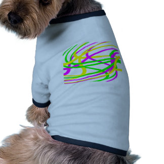 Neon Swirled Stripes #6 Doggie T-shirt