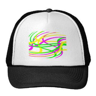 Neon Swirled Stripes #6 Trucker Hats