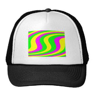 Neon Swirled Stripes Mesh Hats