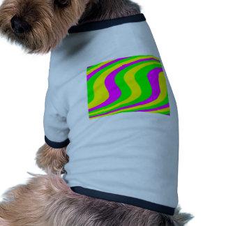 Neon Swirled Stripes Pet Tee Shirt