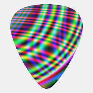 Neon Swirls Guitar Pick