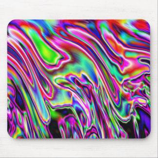 Neon Swirls Mouse Mat
