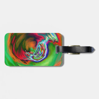 Neon Symphony Marble Luggage Tag