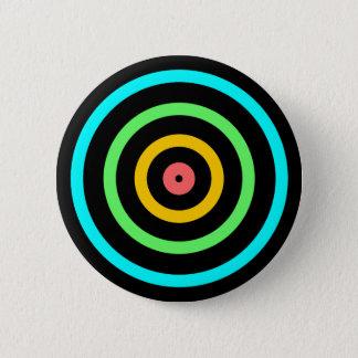 Neon Target 6 Cm Round Badge
