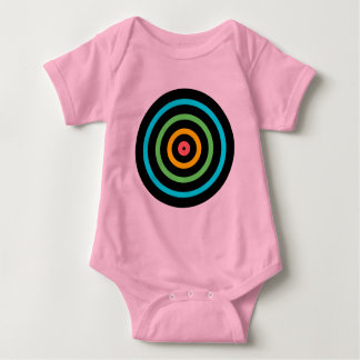 Neon Target Baby Bodysuit