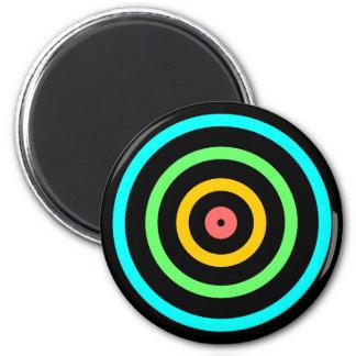 Neon Target Refrigerator Magnet