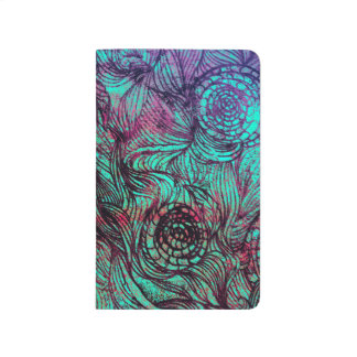 Neon Tendrils Abstract Journal