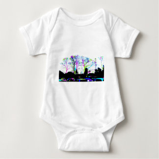 Neon Trees Urban Skyline cool original design Baby Bodysuit