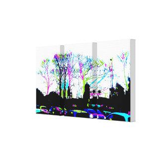 Neon Trees Urban Skyline cool original design Stretched Canvas Print
