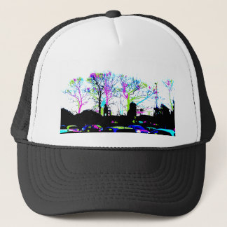 Neon Trees Urban Skyline cool original design Trucker Hat