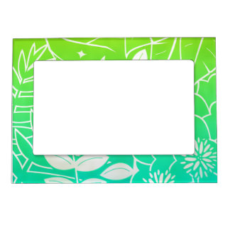 """Neon Tropical Foliage 5""""x7"""" Magnet Picture Frame Magnetic Frames"""