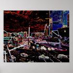 Neon Vegas Strip Print