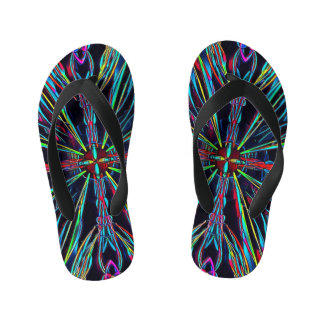 Neon Vibrant Coloful Burst Flip Flop Sandals Flip Flops