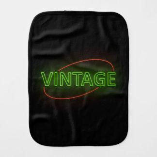 Neon vintage. burp cloth
