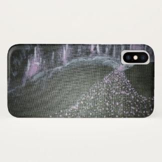 Neon violet cityscape iPhone x case